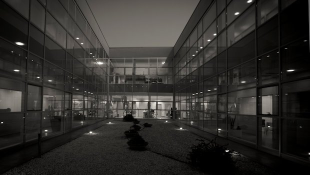 View of the internal courtyard, Empoli HQ (Florence – Italy).